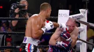 Kovalev battering Caparello. Photo by ESPN