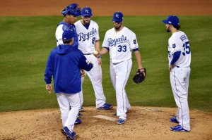 Starter James Shields struggled in three innings on Tuesday (Courtesy of Royals Review)
