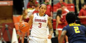 Junior guard Lia Galdeira is one of the best guards in the Pac-12, and is a must-watch athlete. (Courtesy of WSUCougars.com)