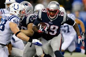 LaGarrett Blount carried the ball 30 times in the Patriots victory.