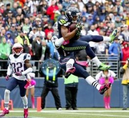 Doug Baldwin was the Seahawks leading receiver in 2014. (Courtesy of the Seattle Times)