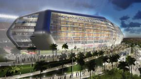 The Carson City stadium where the Raiders and Chargers could end up playing. (Courtesy of the Los Angeles Times)