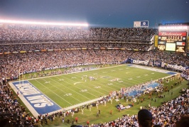 "Qualcomm Stadium is the last of the ""Cookie Cutter"" stadiums in use."