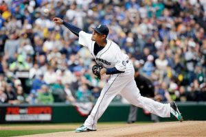Felix Hernandez pitched seven innings and struckout 10 while allowing two hits. (Courtesy of KOIN 6)
