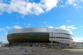 The Quebec City arena is nearing completion. It's being built to attract a NHL franchise. (Courtesy of Hockey Feed)