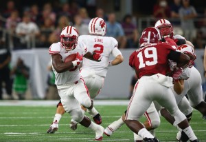 Wisconsin running back Corey Clement had only 16 rushing yards due to a left groin injury.  Wisconsin finished the game with only 40 yards rushing.