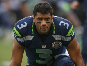 SEATTLE, WA - DECEMBER 09:  Quarterback Russell Wilson #3 of the Seattle Seahawks looks on prior to the game against the Arizona Cardinals at CenturyLink Field on December 9, 2012 in Seattle, Washington.  (Photo by Otto Greule Jr/Getty Images) *** Local Caption *** Russell Wilson