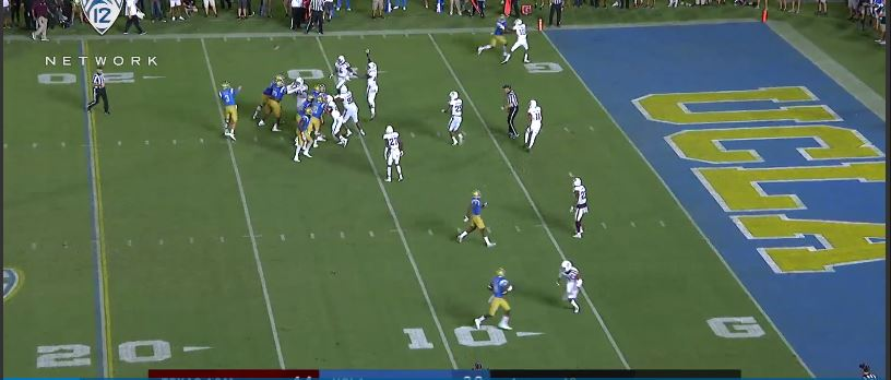 Rosen fake spike, it was at this moment the Aggies knew...they f---ed up